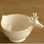 White Elk Ceramic Fruit or Salad Bowl