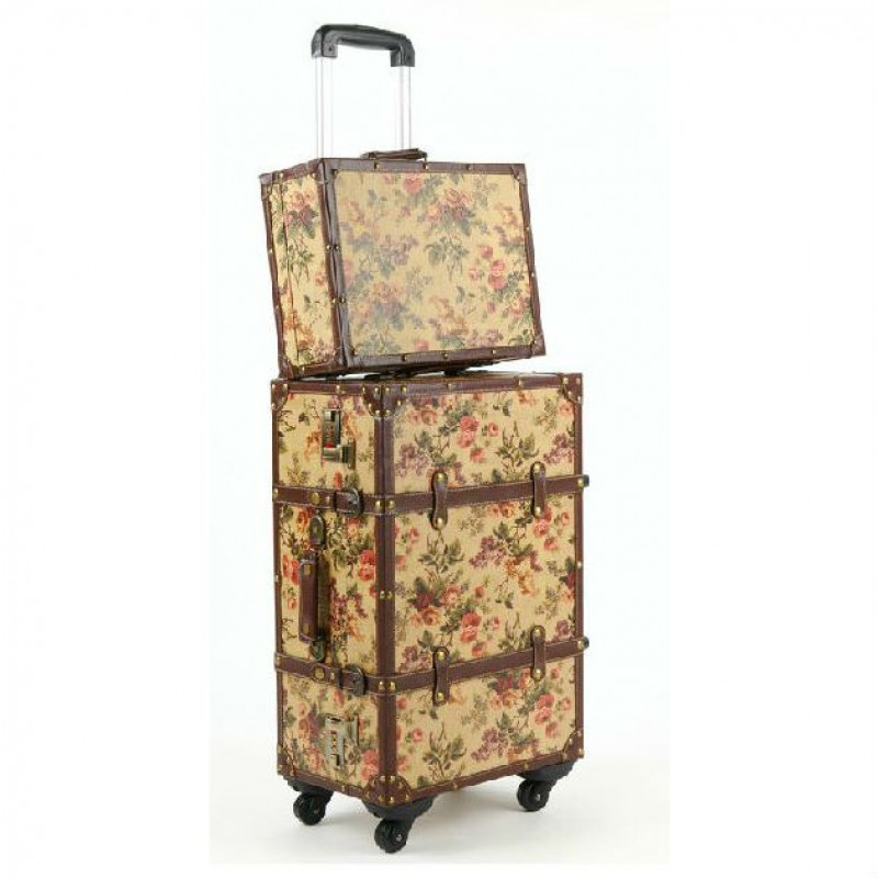 Vintage Floral Luggage Set
