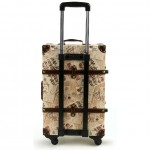 Stamp Chop and Floral Patterned Luggage Set