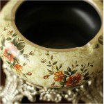 Elegant Floral Ceramic Ashtray