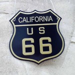 Route 66 Vehicle License Tinplate