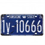 American Antiqued Vehicle License Tinplate