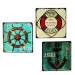 Antiqued Mediterranean-style Tinplate Painting Set