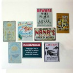 Vintage Slogans Warning Signs Posters Tinplate Painting Set