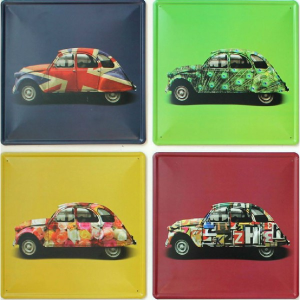 Vintage Cars Tinplate Painting Set