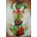 Colorful Guitar Girl Tinplate Painting Set