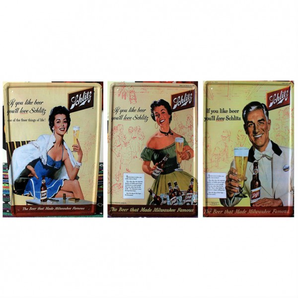 Schlitz Beer Tinplate Painting Set