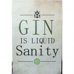 Gin Advertising Slogan Tinplate Painting Set