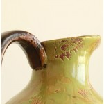 Country Relief Green Ceramic Vase