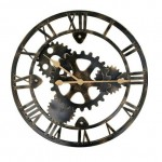 Industrial Metallic Wall Clock