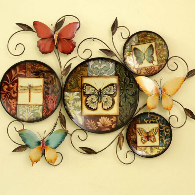 country style butterfly iron wall decoration