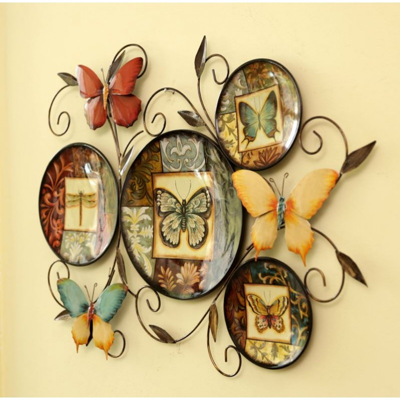 style Butterfly Iron Wall Decoration