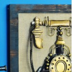 Retro Relief Telephone Wall Decoration