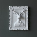 Vintage Deer Couple Resin Wall Decoration