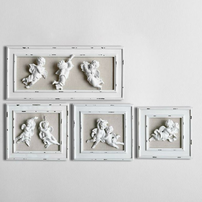Angels Carving Resin Wall Decoration