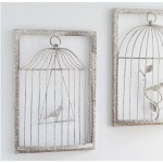 Three-dimensional Birdcage Iron Wall Decoration