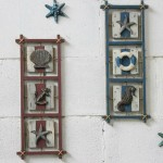 Mediterranean-style Rectangular Wooden Wall Decoration Set