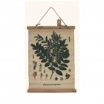 Branch and Leaves Pattern Cotton Cloths Painting