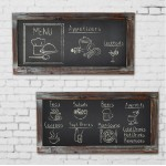 Vintage Fir Wooden Blackboard