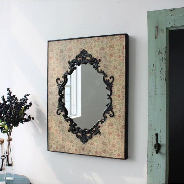 Yellowed Floral Carving Wall Frame